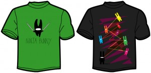 Ninja Bunny t-shirt designs