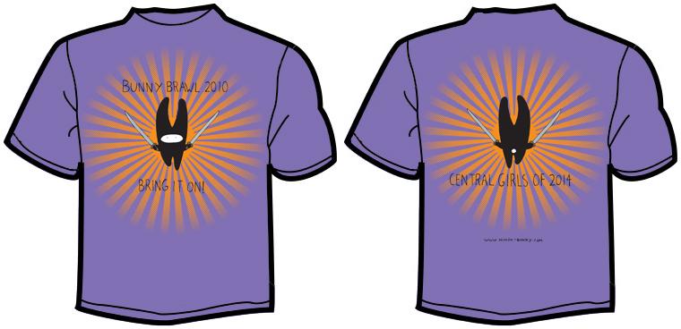 Ninja Bunny T Shirt Design Front Back